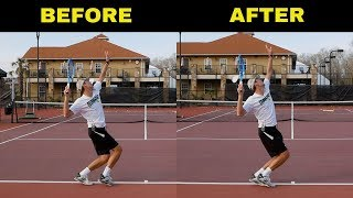 HUGE MISTAKE Tennis Players Do On Their Serve! Fix It With This Easy Drills!