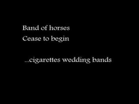band of horses cigarettes wedding bands