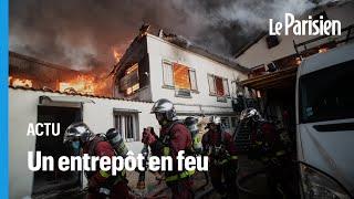 Aubervilliers : un spectaculaire incendie ravage un entrepôt