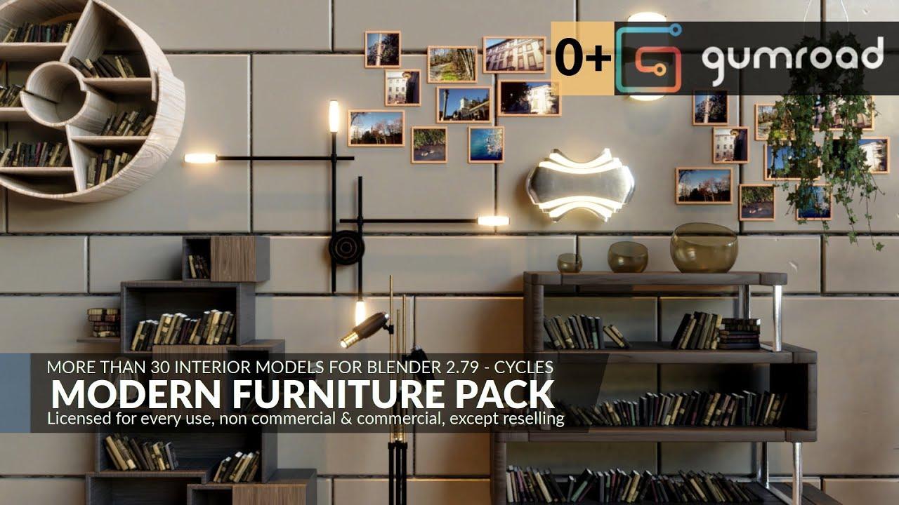 Modern furniture pack for blender 2 79