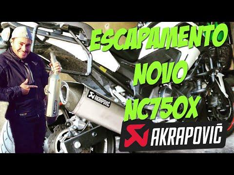 NOVO ESCAPAMENTO PRA NC750X - AKRAPOVIC TITANIUM | MOTO filmadores UK
