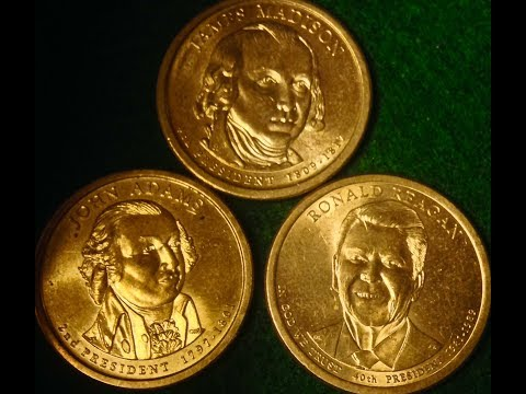 Misdated Presidential Dollar Coins & Upside Down Edge Lettering