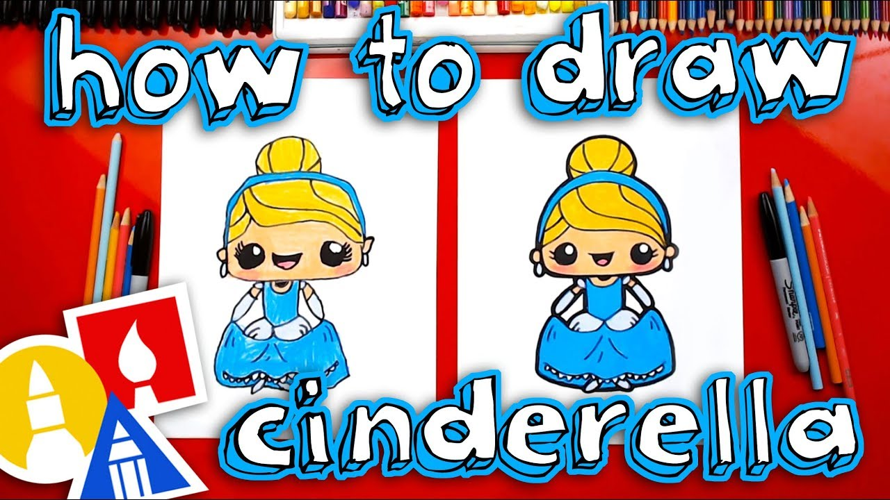 How To Draw Cute Cinderella Kawaii