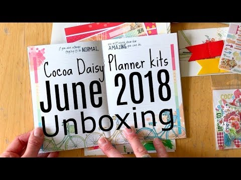 Unboxing: Cocoa Daisy Planner kits June 2018 Bikes and Poppies