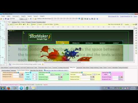 Video Tutorial: How to Create a Web Page with SliceMaker Products?