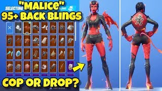 "NEW ""MALICE"" SKIN Showcased With 95+ BACK BLINGS! Fortnite Battle Royale (BEST MALICE COMBINATIONS)"