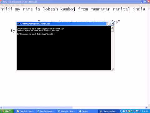 how to format a pendrive with DOS.flv