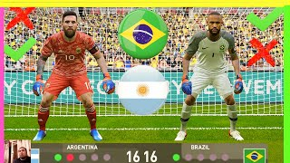 PES 2020 - goalkeeper J.Neymar VS goalkeeper L.Messi - Penalty Shootout - Brazil vs Argentina