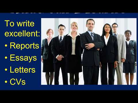 Formal Writing Masterclass - An Introduction