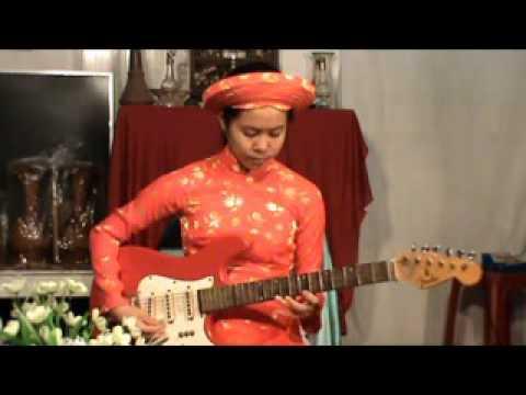 TUYẾT HOA độc tấu guitar: bản vọng kim lang (8)