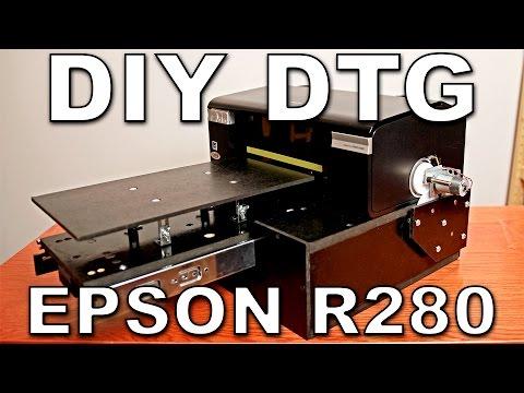 DIY DTG flatbed Epson R280 (P50, T50, L800)
