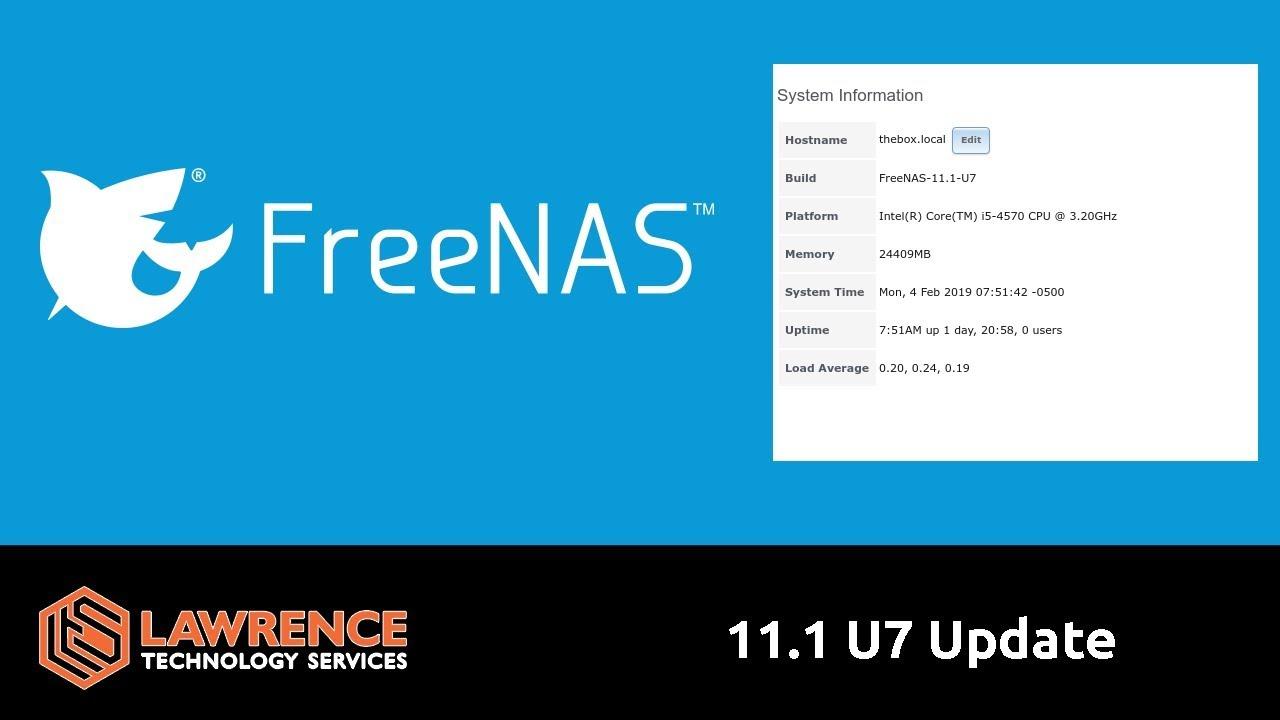 FreeNAS 11 1 U7 Update: SAMBA Security Fixes