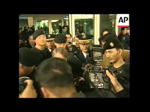 Arrival of US delegate