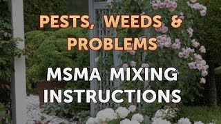 MSMA Mixing Instructions