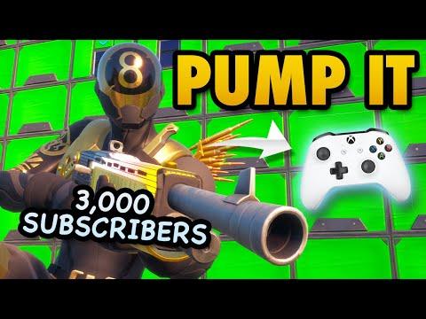 3,000 SUBSCRIBERS! | Pump It - Controller Fortnite Shotgun Montage