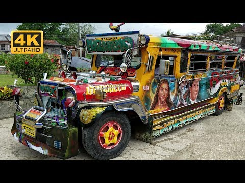 Best decorated and painted colorful Jeepneys in Philippines 2017 4K