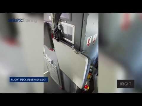 Bombardier Dash-8 Q400 Flight Deck Observer seat