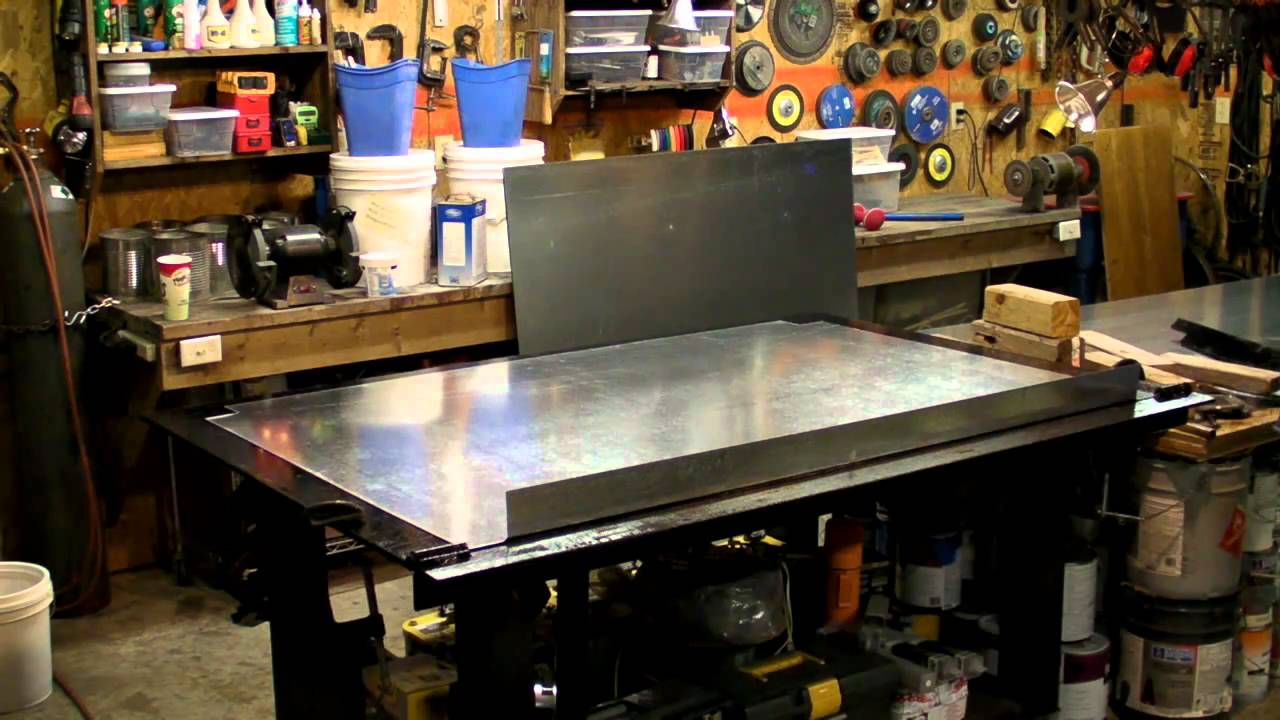 Diy Sheet Metal Brake Youtube