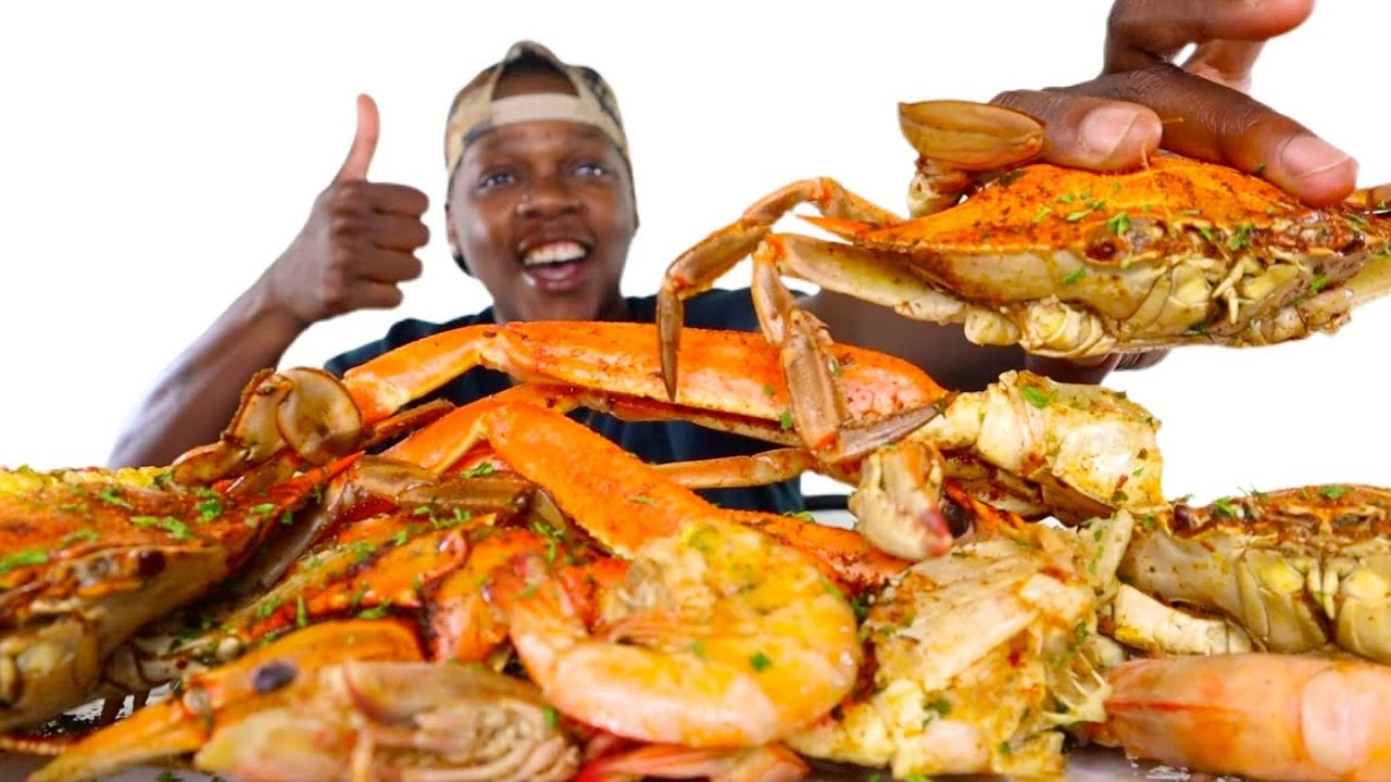 HUGE SEAFOOD BOIL | BLUE CRABS + SNOW CRABS + SHRIMP | MUKBANG ‼️