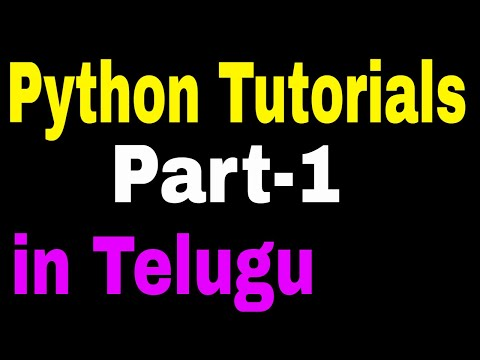 Python Programming in Telugu part1