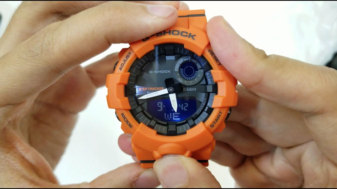 7111eeee434d G-SQUAD G-SHOCK STEP TRACKER WATCH GBA-800-4A AMAZING COLOR - YouTube
