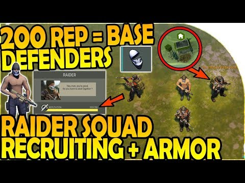200 REP = BASE DEFENDERS - RAIDER SQUAD RECRUITING + ARMOR -