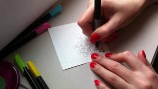 5 урок по рисованию. (Зентангл. Дудлинг. Раскраски антистресс.)