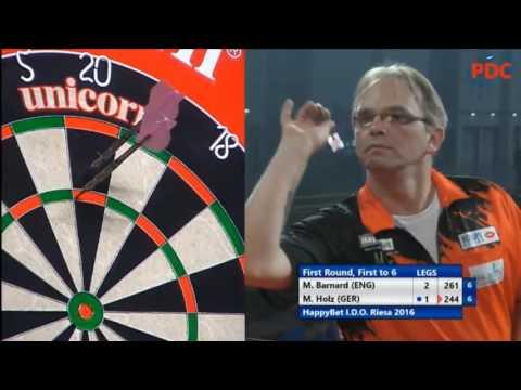 2016 International Darts Open Round 1 Barnard vs Holz