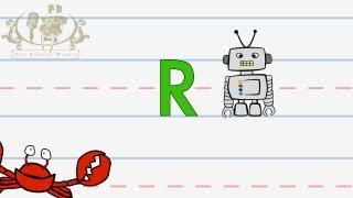 Write the letter R | Alphabet Writing lesson for children | The Singing Walrus