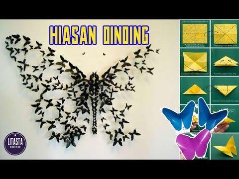 DIY Dekorasi kamar dengan hiasan kupu-kupu dari kertas origami | Part #2 #1
