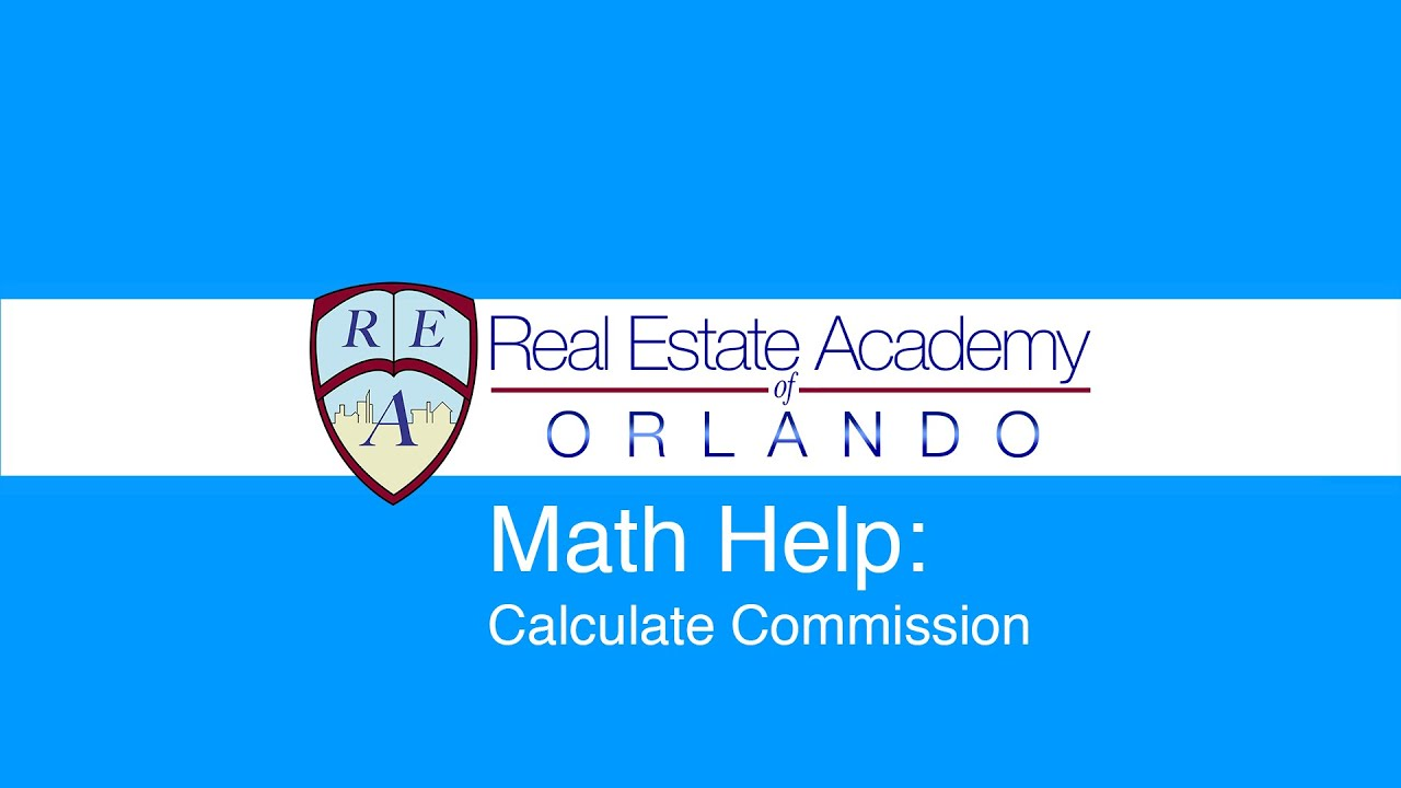 real estate math calculate commission youtube