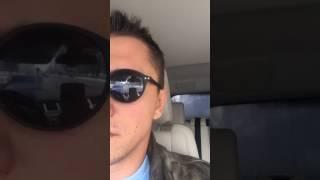 Павел Прилучный в автомобиле (29.03.17)
