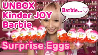 Unboxing Kinder Surprise chocolate eggs for girls♡ Hoping to get Ba...