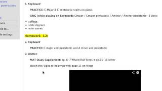 How To Find MAT Homework on the Berklee OL site