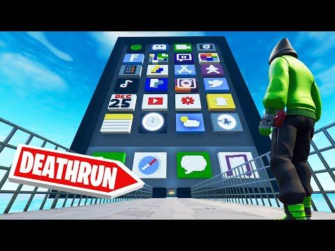 IMPOSSIBLE iPhone FORTNITE Deathrun! (Fail = Break iPhone)
