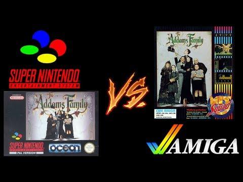 The Addams Family Port Comparison: SNES vs. Amiga