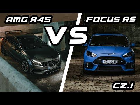 Mercedes A45 vs Focus RS | Porównanie cz.1 | gościnnie #Kickster