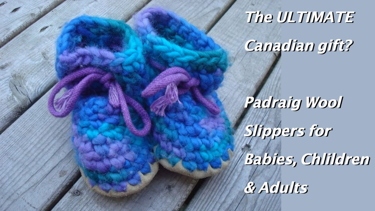 Padraig Wool Slippers are the best slippers for babies, children ...
