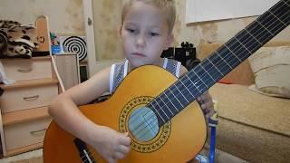 Первый урок. Строение гитары. Название струн. Первые упражнения.