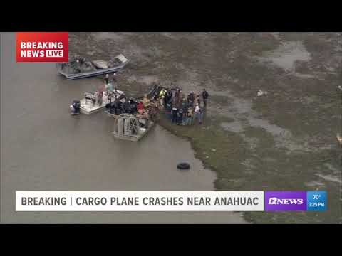 Human remains found after Atlas Air cargo plane crashes in Chambers Co.