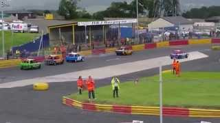 17/8/14 HRP Lochgelly 1300 Saloon Stock Car Heat 1
