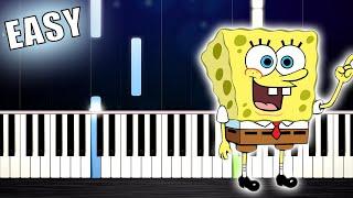 Spongebob Theme Song - EASY Piano Tutorial by PlutaX
