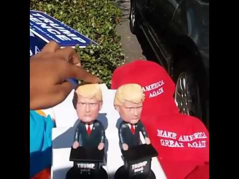 Live outside Republican Vice Presidential candidate Mike Pence