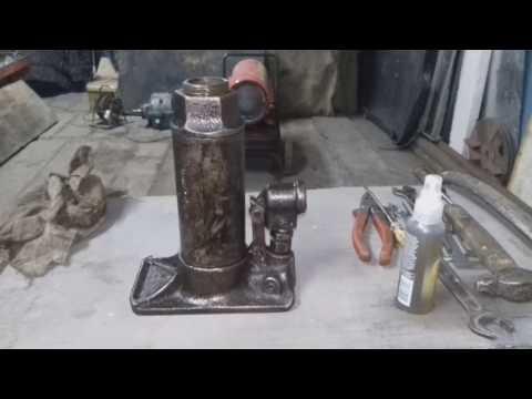 Как отремонтировать домкрат гидравлический своими руками видео