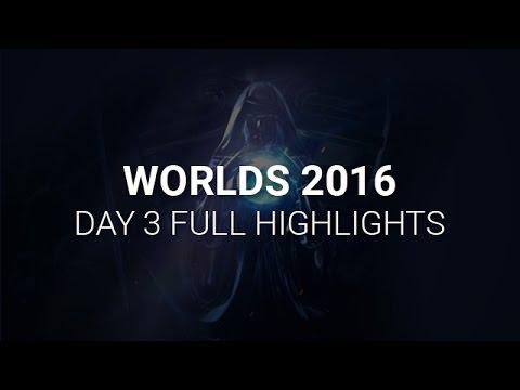 S6 Worlds 2016 Day 3 Highlights - LoL Esports World Championship 2016 Highlights Day 3