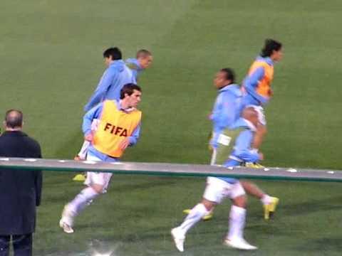 Uruguay warm up