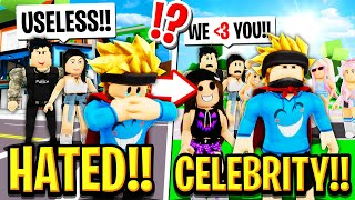 The HATED CHILD Becomes a CELEBRITY in Roblox BROOKHAVEN RP!!