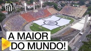 Santos FC apresenta a maior bandeira oficial de clubes de futebol
