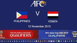 Philippines vs Yemen full match