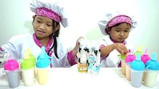 Mainan Anak Ice Cream YOGURT Maker 💖 Jessica Jenica Membuat Es Krim Enak Badan Jadi Sehat
